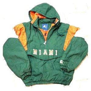 Miami Hurricanes Starter Jacket Vintage Size M